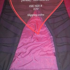 Lululemon black size 8 leggings